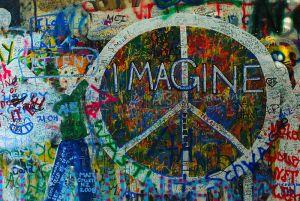 LennonWallImagine, by Adam Zivner