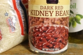 Kidney beans on a shelf