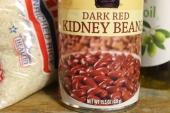 Kidney beans on a shelf