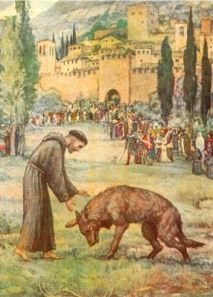 St Francis and the Wolf of Gubbio