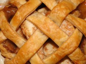 Pie with lattice crust