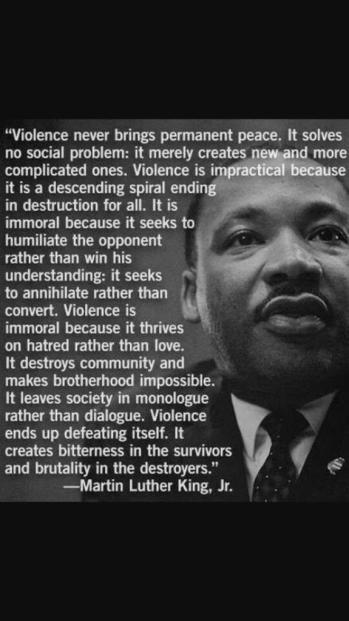 MLK on violence