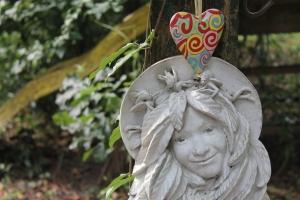 Heart above fairy face