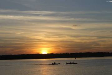 Kayakers at Sunset by JoAnne