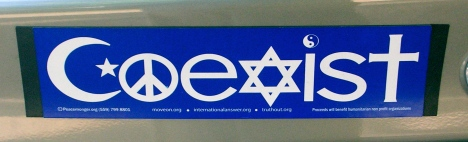 Coexist-bumpersticker by Patrick Byrne via wmc