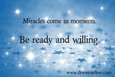 Miracles in Blue sparkles