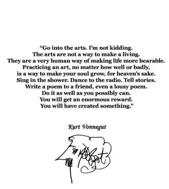 Art quote by Kurt Vonnegut