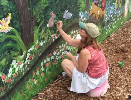 JoAnne painting rabbits