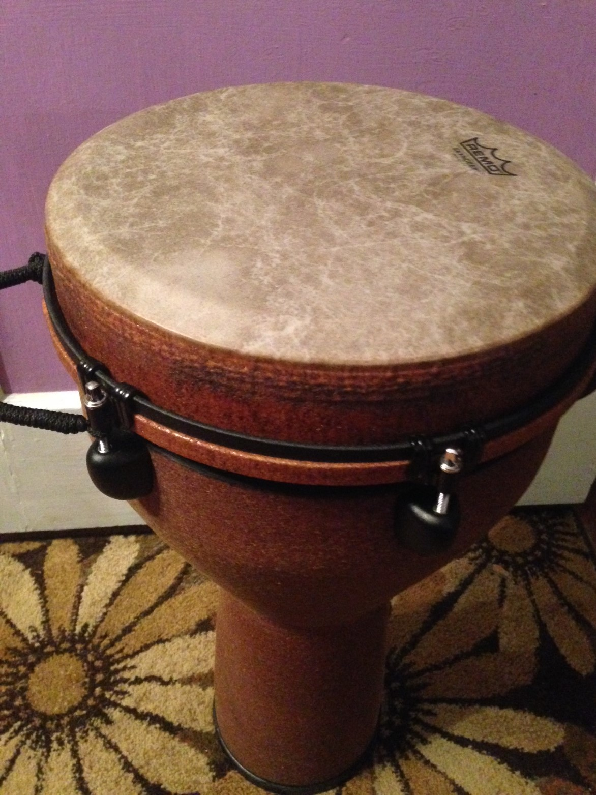 djembe purple background
