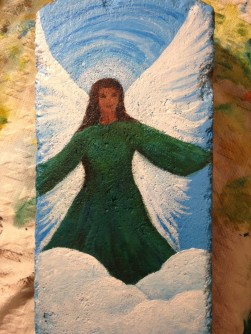 painted brick w angel (2)