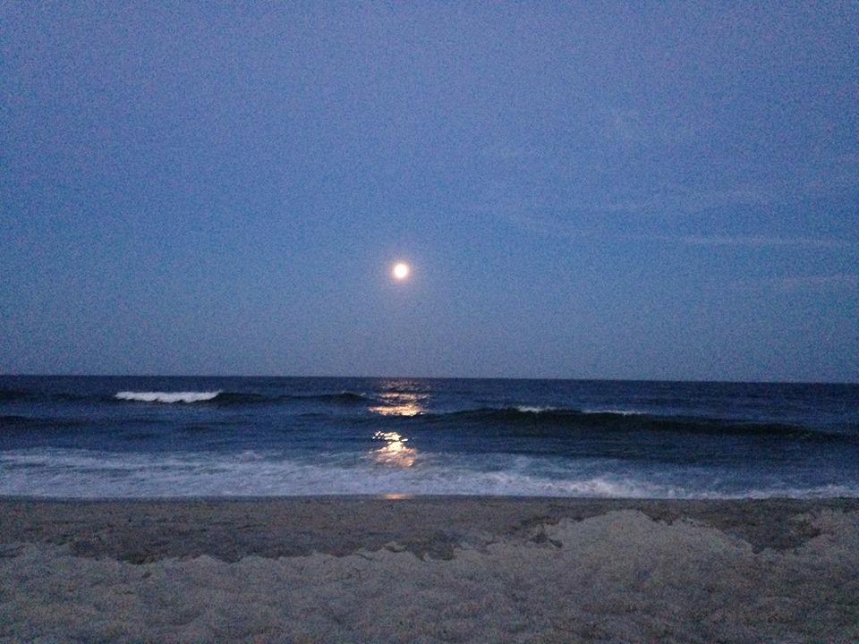 Moonrise reflections July 17
