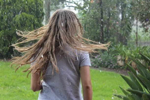 rain with girl