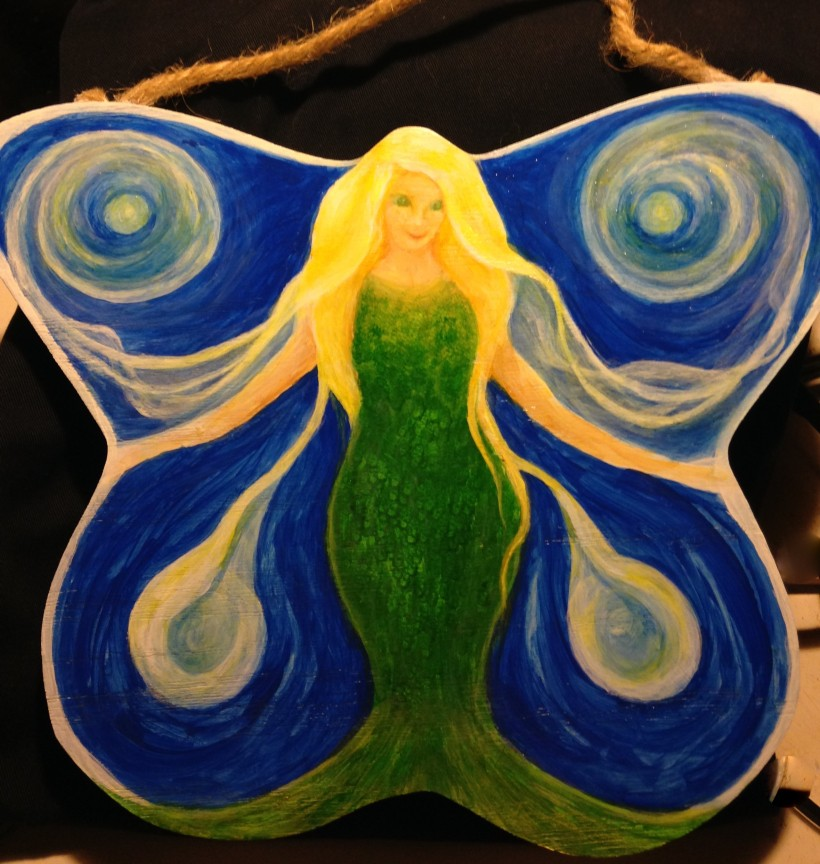 Butterfly mermaid close up