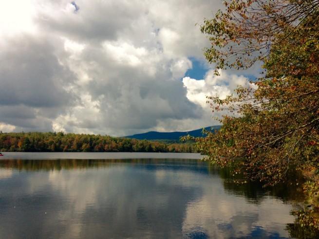 Lake w fall colors
