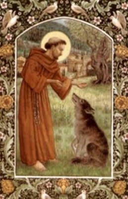 Beatiful picture of St Francis and wolf
