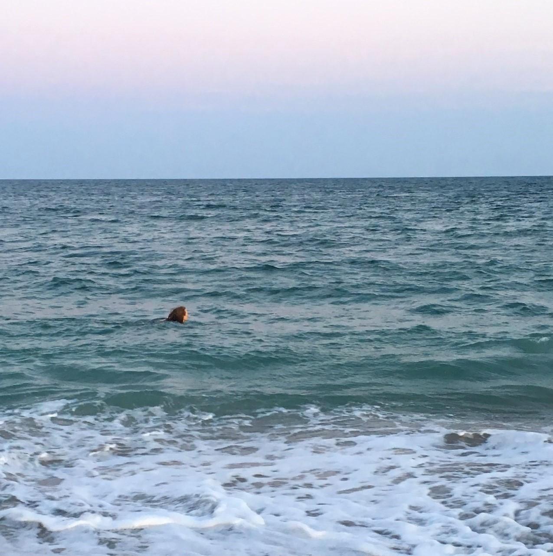 JoAnne in ocean
