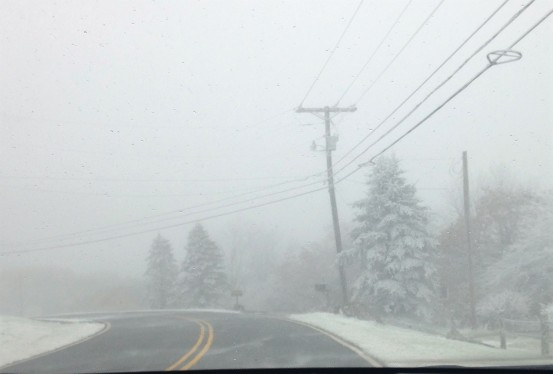 snow storm on Beech Mountain
