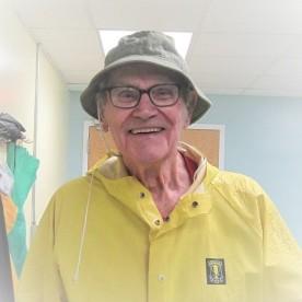Dad in raincoat at rehab (3)