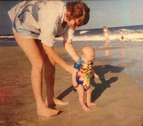 JoAnne and Ayla baby at the beach (2)