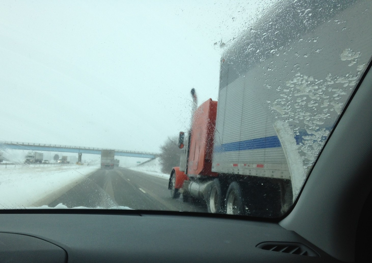 passing a truck closer