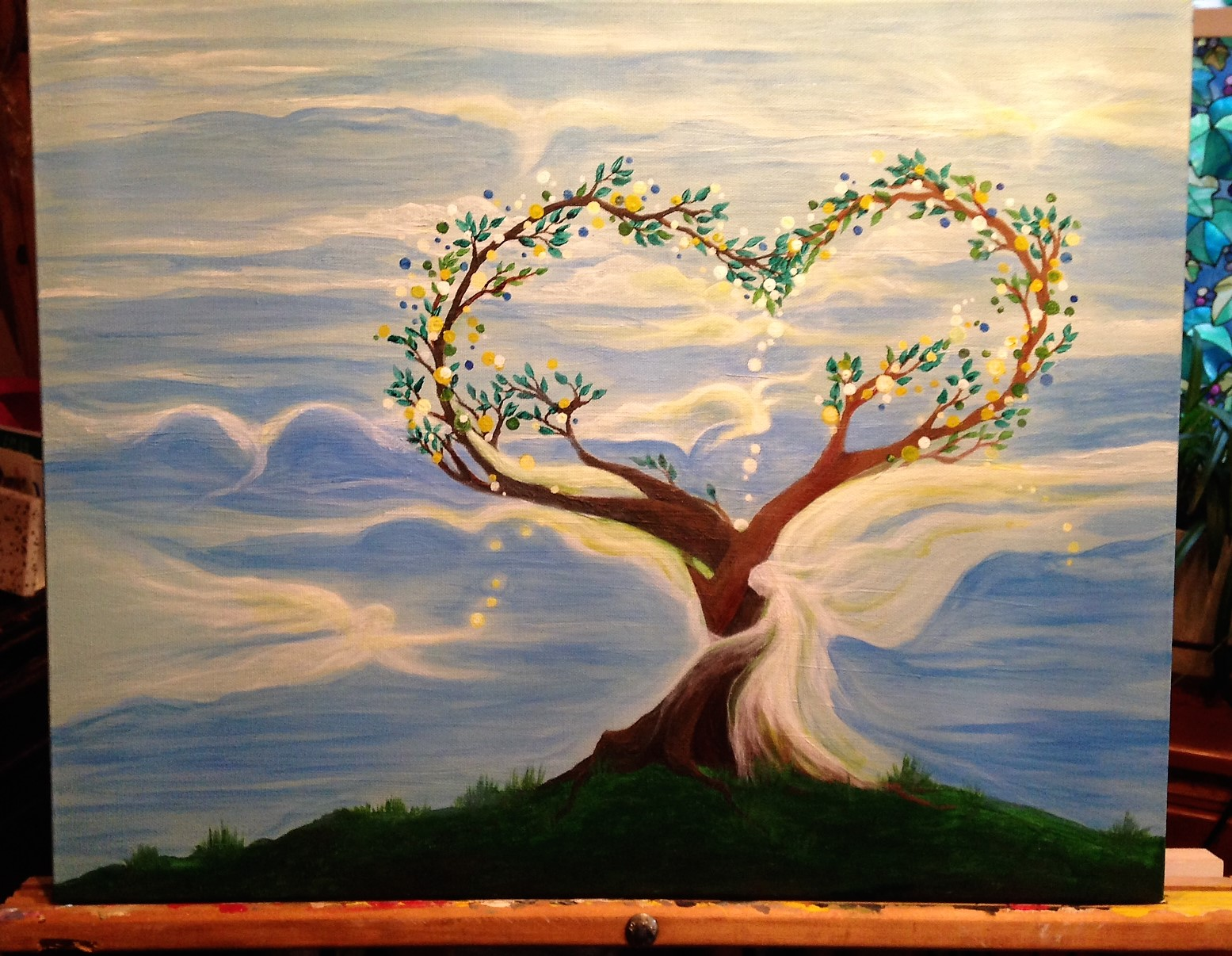 tree of love hugging angels 2