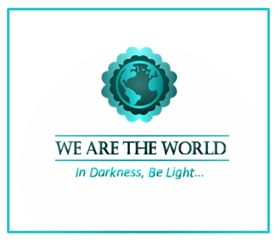 We are the world white badge