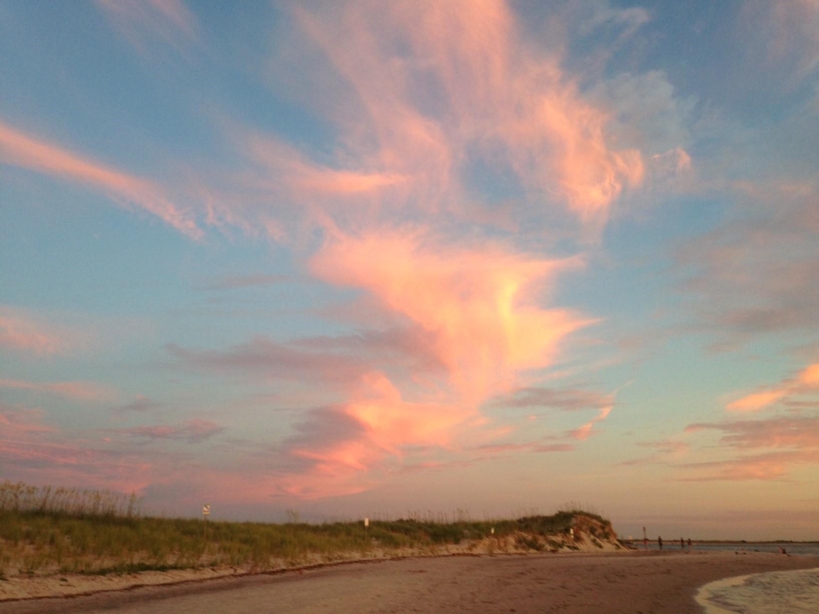 pink dancing tornado cloud
