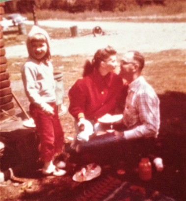 Mom Dad and me on picnic closer