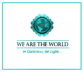 We Are The World Blogfest in white