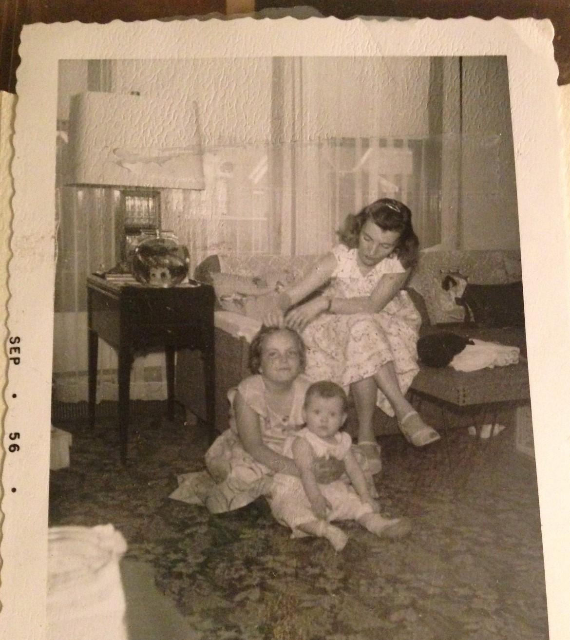 Infant joanne w Linda and mom
