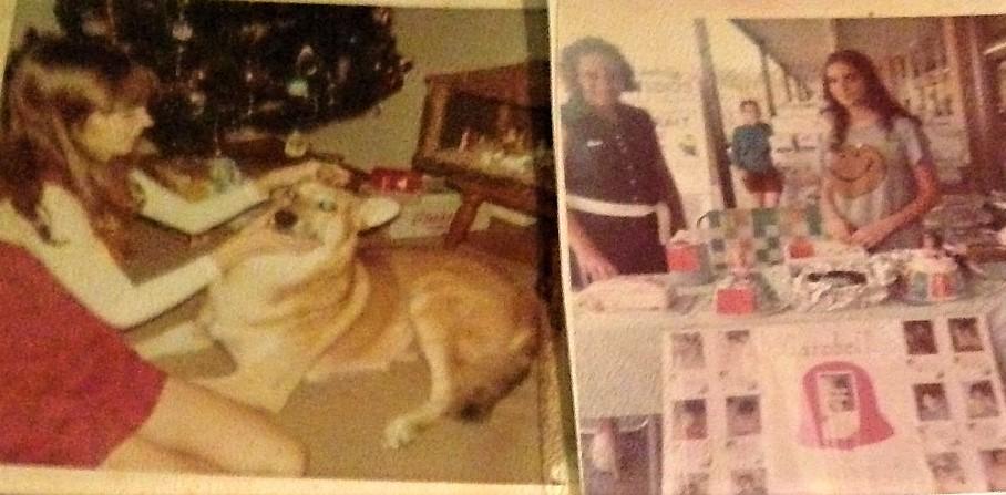 Mary Kaye at bake sale and with Lobo