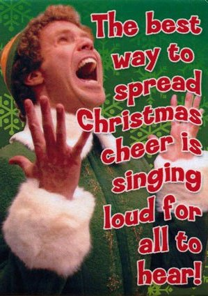 Buddy the Elf singing