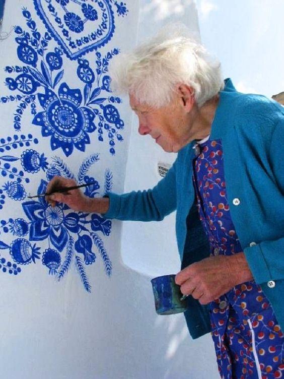 blue designs by Agnes Kasparkova