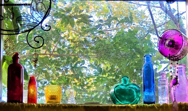 colored glass in window 2