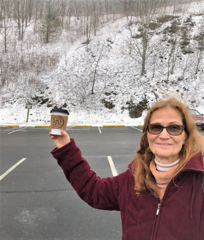 snow and hot chocolate