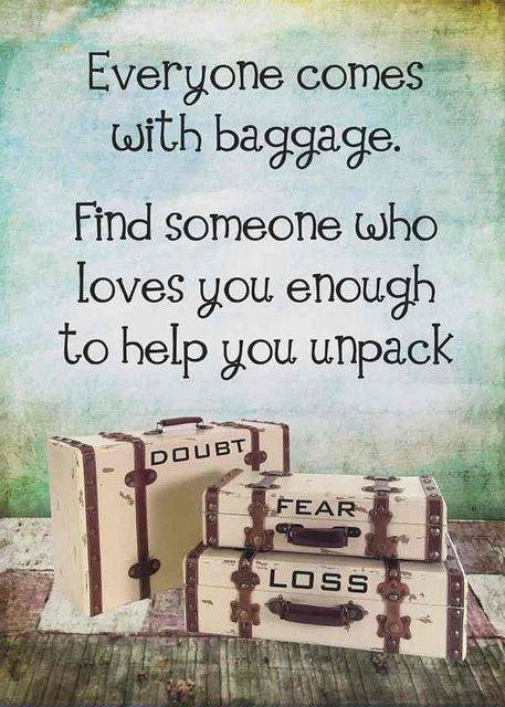 baggage unpacking
