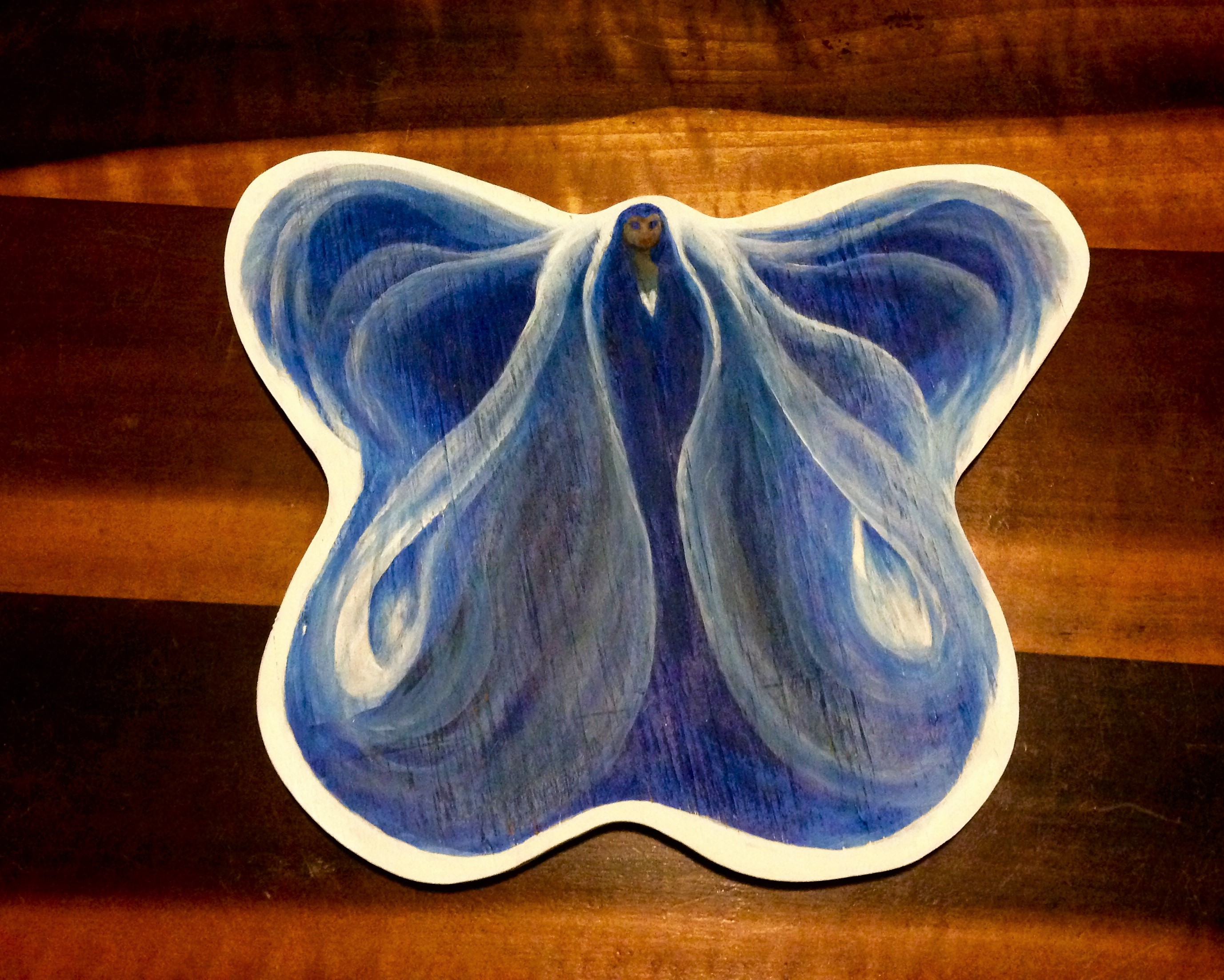 Butterfly angel in blue