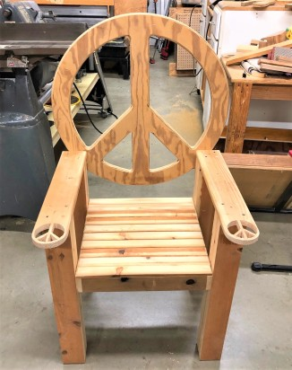 Peace chair unpainted
